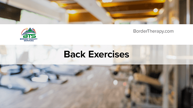 Back Strengthening Exercises Thumbnail